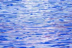 Härlig färgrik vattenyttersida med vågor på solnedgången Royaltyfri Fotografi