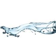 Härlig färgstänk av rent vatten Arkivfoton