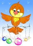 härlig fågel Vektor Illustrationer