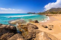 Härlig Falassarna strand på Kreta Arkivfoto
