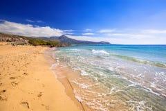 Härlig Falassarna strand på Kreta Arkivbild
