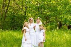 härlig familj Arkivfoto