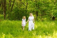 härlig familj Fotografering för Bildbyråer