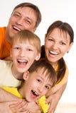 härlig familj fyra Royaltyfri Bild