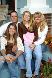 härlig familj tillsammans