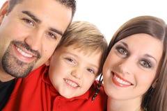 härlig familjstående för vinkel Royaltyfri Bild