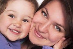 härlig familjwhite Fotografering för Bildbyråer