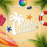 Härlig ferie för sommar royaltyfri illustrationer