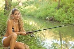 härlig fiskare Arkivfoton