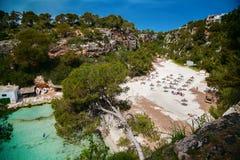 Härlig fjärd av den Mallorca - strandCala pi Royaltyfria Bilder