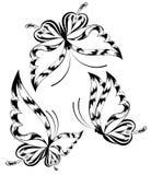 härlig fjäril vektor illustrationer