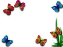 härlig fjärilsram stock illustrationer