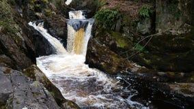 Härlig flödande vattenfall Fotografering för Bildbyråer