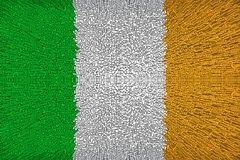 Härlig flagga av Irland royaltyfri illustrationer