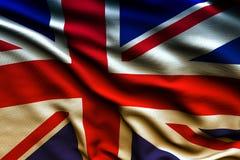 Härlig flagga av UK som vinkar i vinden Royaltyfria Foton