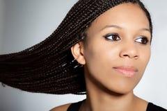 härlig flicka för afrikansk amerikan Fotografering för Bildbyråer
