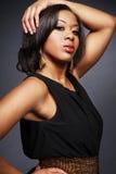 härlig flicka för afrikansk amerikan 3 Arkivfoton