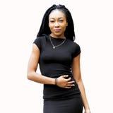 härlig flicka för afrikansk amerikan royaltyfri fotografi