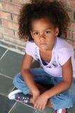 härlig flicka för afrikansk amerikan little Royaltyfri Fotografi