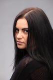 Härlig flicka för brunett Fotografering för Bildbyråer