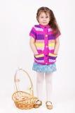 härlig flicka för korg little Royaltyfria Foton