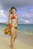 härlig flicka för strand Arkivbilder