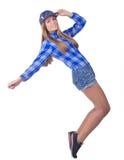 Härlig flicka i en hatt Royaltyfria Foton