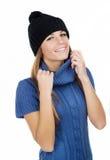 Härlig flicka i en hatt Royaltyfri Bild