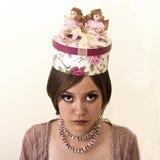 Härlig flicka i hatten Royaltyfri Foto