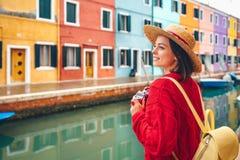 Härlig flicka i Italien royaltyfria bilder