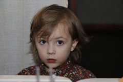härlig flicka little Arkivfoton