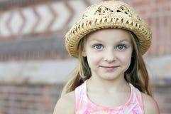 härlig flicka little stående royaltyfria bilder