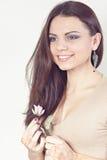 Härlig flicka målade Mehandi Arkivfoton