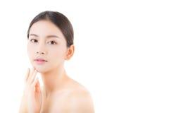 Härlig flicka med makeup-, kvinna- och hudomsorgbegrepp Arkivfoton