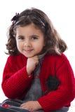 Härlig flicka som poserar för foto Royaltyfri Foto