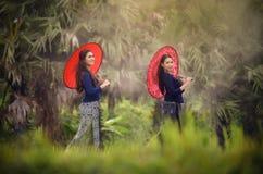 härlig flicka Thailand Arkivfoto
