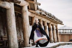 Härlig flicka viking Royaltyfri Foto
