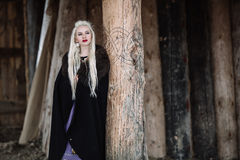 Härlig flicka viking Fotografering för Bildbyråer