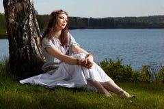 härlig flickahippie Royaltyfria Bilder