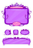 Härlig flickaktig violetlekanvändargränssnitt Royaltyfria Bilder