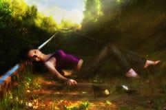 härlig flickanatur Royaltyfri Fotografi