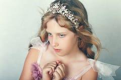 härlig flickaprincess royaltyfria foton