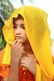 härlig flickarajasthani Arkivbilder