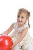 härlig flickared för boll Arkivfoto