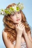 härlig flickaredhead Royaltyfria Bilder