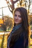 härlig flickasolnedgång Fotografering för Bildbyråer