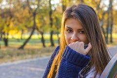 härlig flickasolnedgång Royaltyfri Bild