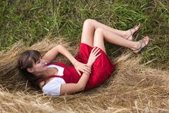 härlig flickastående Fotografering för Bildbyråer