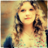 Härlig flickastående Arkivfoto