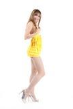 härlig flickawhite för bakgrund Royaltyfria Foton